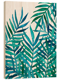 Legno  Watercolor Palm Leaves on White - Micklyn Le Feuvre