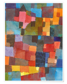 Poster  space Architecture - Paul Klee