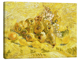 Stampa su tela  Quinces, Lemons, Pears and Grapes - Vincent van Gogh