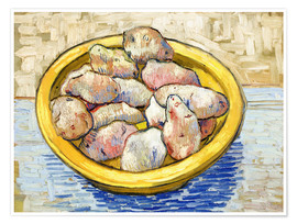 Poster Premium Potatoes in yellow bowl