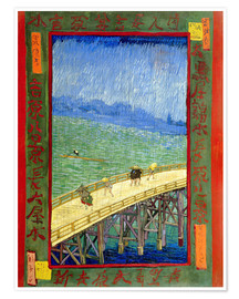 Poster Premium  The Bridge in the Rain (after Hiroshige) - Vincent van Gogh