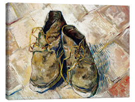 Stampa su tela  A Pair of Shoes - Vincent van Gogh