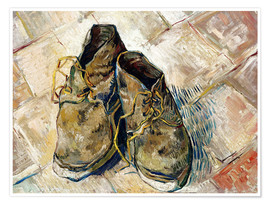 Poster Premium  A Pair of Shoes - Vincent van Gogh