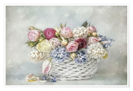 Poster Premium  a basket full of spring - Lizzy Pe