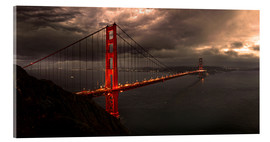 Stampa su vetro acrilico  Golden Gate mystical brown - Michael Rucker