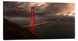 Stampa su tela  Golden Gate mystical brown - Michael Rucker