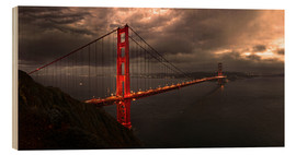 Stampa su legno  Golden Gate mystical brown - Michael Rucker