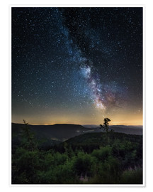 Poster Premium  Milky Way over Black Forest - Andreas Wonisch