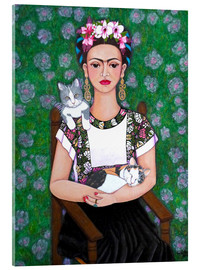 Vetro acrilico  Frida cat lover - Madalena Lobao-Tello