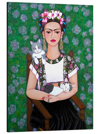 Alluminio Dibond  Frida cat lover - Madalena Lobao-Tello