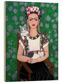 Legno  Frida cat lover - Madalena Lobao-Tello