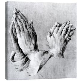 Stampa su tela  Hands of the Pope and an apostle - Albrecht Dürer
