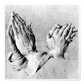 Poster Premium  Hands of the Pope and an apostle - Albrecht Dürer