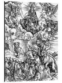 Stampa su alluminio  Seven-headed beast from the sea and the beast with horns lamb - Albrecht Dürer