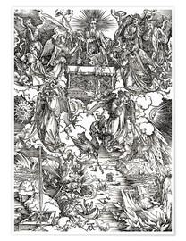 Poster Premium Seven angels with trumpets