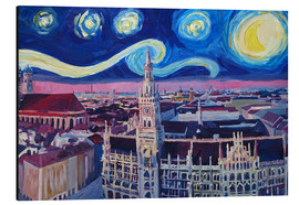 Stampa su alluminio  Starry Night in Munich - M. Bleichner