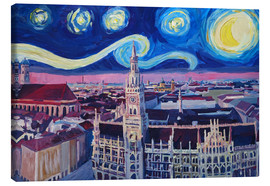 Tela  Starry Night in Munich - M. Bleichner