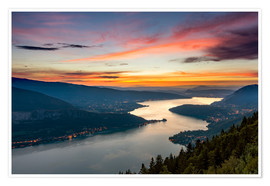 Poster Premium Colorful Sunset Annecy