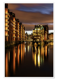 Poster  Warehouse District, Hamburg - Germany - Achim Thomae