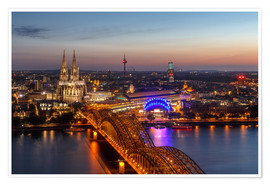 Poster  Cityscape Cologne Germany - Achim Thomae