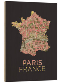 Legno  Paris France Map Silhouette - Amelia Gier
