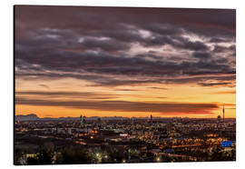 Stampa su alluminio  Sunset over Munich (Bavaria) - Achim Thomae