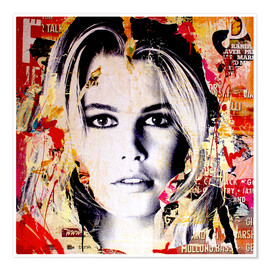 Poster  Claudia Schiffer - Michiel Folkers