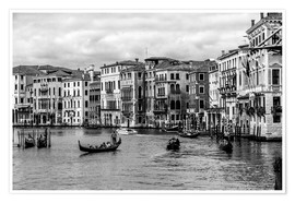 Poster Premium  Venice black and white - Filtergrafia
