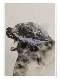 Poster Premium  Bear In The fog - Andreas Lie