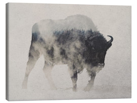 Tela  Bison In The Fog - Andreas Lie