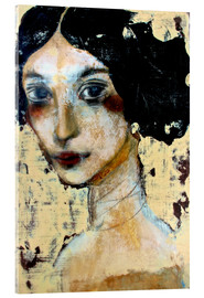 Vetro acrilico  WOMAN WITH BLACK HAIR - RAR Kramer