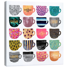 Tela  Pretty Coffee Cups - Elisabeth Fredriksson