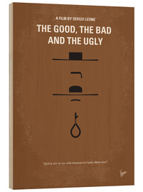 Stampa su legno  No090 My The Good The Bad The Ugly minimal movie poster - chungkong