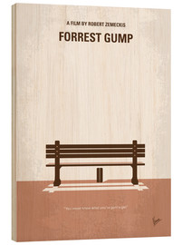 Legno  No193 My Forrest Gump minimal movie poster - chungkong