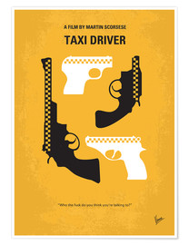 Poster Premium No087 My Taxi Driver minimal movie poster