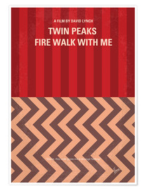 Poster Premium No169 My Fire walk with me minimal movie poster