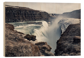 Stampa su legno  Gulfoss - Images Beyond Words