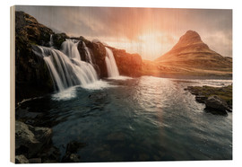 Stampa su legno  Kirkjufell - Images Beyond Words