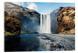 Stampa su vetro acrilico  Skogafoss Waterfall - Images Beyond Words