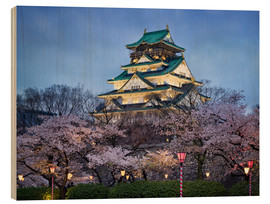 Stampa su legno  Osaka Castle in spring for cherry blossom - Jan Christopher Becke