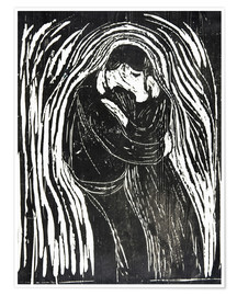 Poster Premium  The Kiss II - Edvard Munch