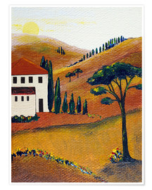 Poster Premium Colours of Tuscany