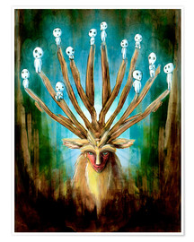 Poster Premium  The Deer God of Life and Death - Barrett Biggers