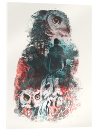 Stampa su vetro acrilico  The Owls are Not What They Seem - Barrett Biggers