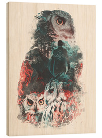 Stampa su legno  The Owls are Not What They Seem - Barrett Biggers