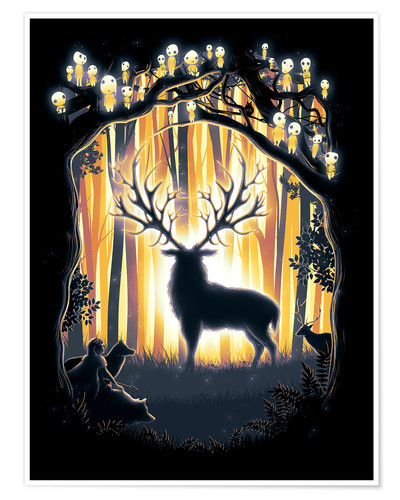 Poster The God of the Forest