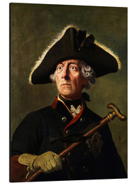 Alluminio Dibond  Frederick the Great - Wilhelm Camphausen