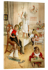 Stampa su vetro acrilico  On the morning of Christmas Day - Carl Larsson