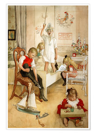 Poster Premium  On the morning of Christmas Day - Carl Larsson
