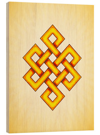Stampa su legno  Endless Knot - Artwork Yellow - Dirk Czarnota
